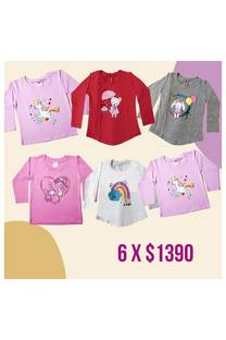 Pack x 6 remeras -