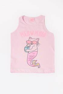 """Musculosa Romy """"Gato sirena con lentes"""" -"""
