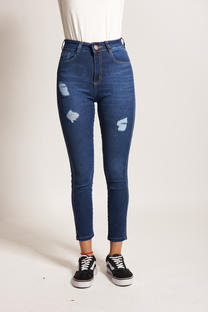 2010-Skinny Fit Blue con Rotura -