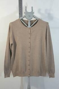 sn013 sweater cardigan cue redondo 11botones -