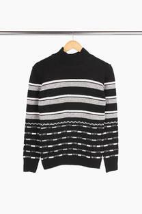 Sweater media polera rayas anchas