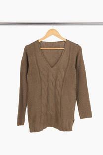 Sweater acrilico trenza
