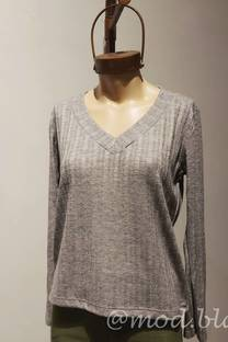 Sweater manga larga Escote V -