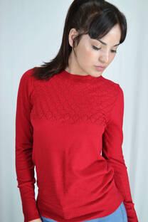 Sweater con delantero calado  -