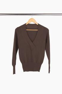 Sweater escote v cruzado