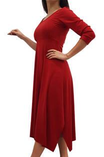 Vestido de Modal c/Recorte  y Tajo -
