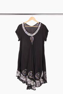Vestido Hindú Combinado -