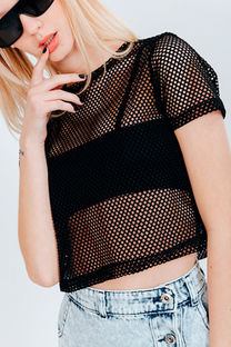 TOP REMERA DE RED -