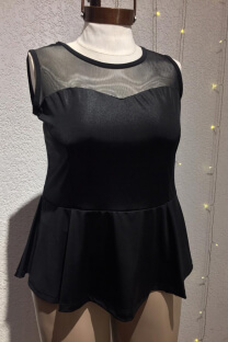 Top peplum liso -