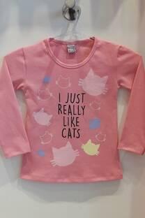 Camiseta basica de Algodon Estamp I Like Cats -