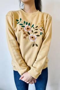Buzo bordado flores -