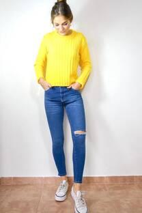 Jean Azul con Tajo -