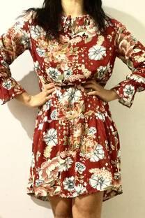 vestido suelto fruncido -