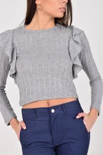 Sweater con volado -