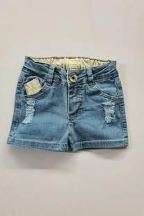 Short jean con roturas bebe -