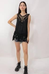 Musculosa Crochet Fleco B -