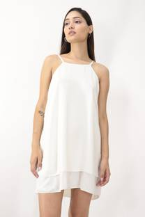 Vestido Gasa Doble  -