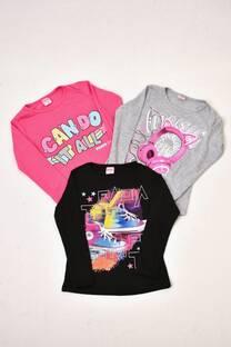 PAK por 3 camisetas línea premiun niña -