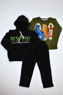 Promo pack. Buzo de friza niño+remera manga larga línea premiun+pantalón de friza  -