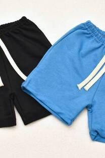 Promo pack 2 shorts de algodón rústico línea bebé  -