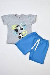 Promo pack remera manga corta línea premiun+shorts de algodón rústico línea bebé -