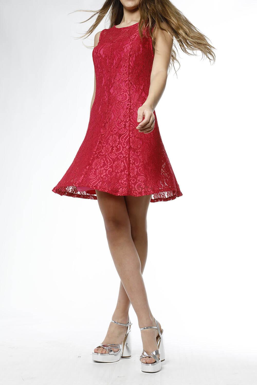 Vestido Campanita Comoda De Encaje