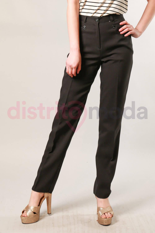 Pantalon Vestir Tiro Alto Talles 50 52 Y 54 Distrito Moda
